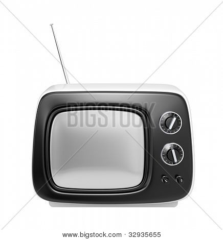 White retro TV