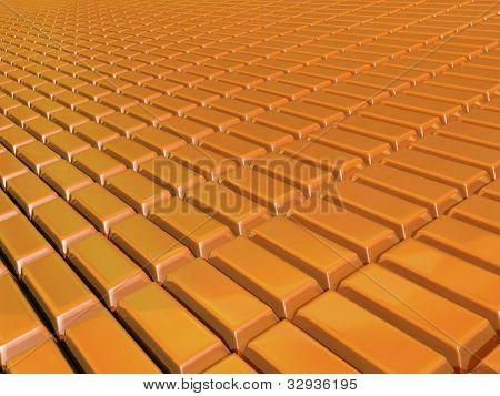 Plane of gold bars
