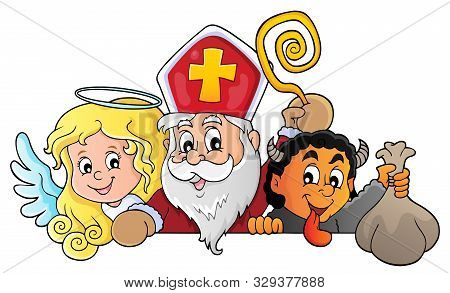 Saint Nicholas Day Topic Image 1 - Eps10 Vector Picture Illustration.