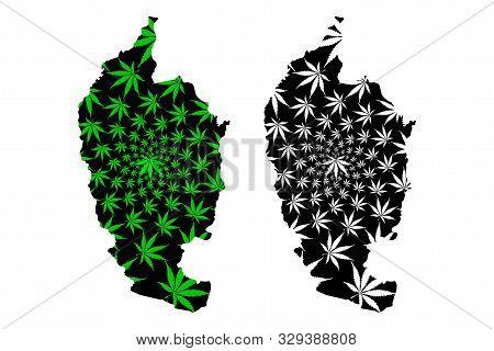 Maha Sarakham Province (kingdom Of Thailand, Siam, Provinces Of Thailand) Map Is Designed Cannabis L