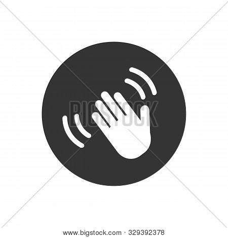 Hand Wave Waving Hi Or Hello Gesture Line Art Vector Icon For Apps