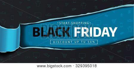 Black Friday Sale. Banner, Poster, Logo. Black Friday Background