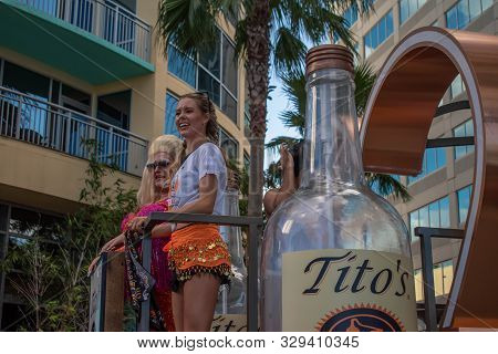 Orlando, Florida. October 12, 2019. Nice Woman And Trans In Titos Chariot At Come Out With Pride Orl