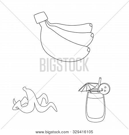 Isolated Object Of Organic And Potassium Logo. Collection Of Organic And Diet Stock Symbol For Web.
