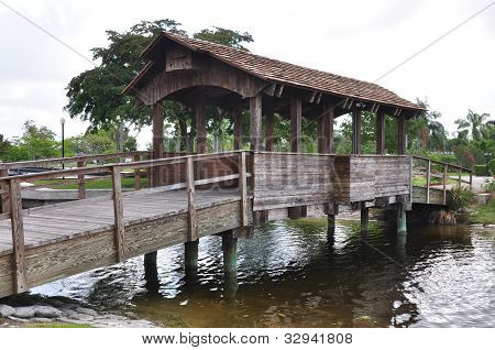 Covered bridge in southeast Florida