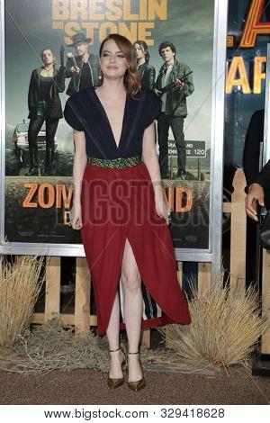 LOS ANGELES - OCT 11:  Emma Stone at the