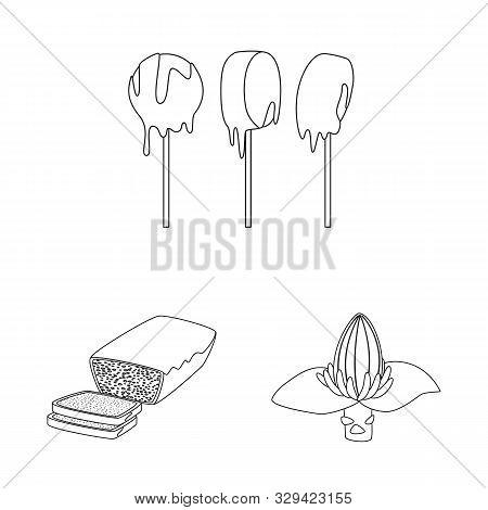 Vector Illustration Of Organic And Potassium Sign. Collection Of Organic And Diet Stock Vector Illus