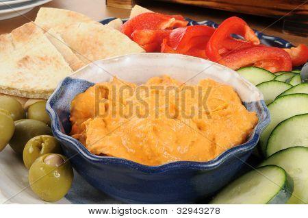 Hummus Snack Platter