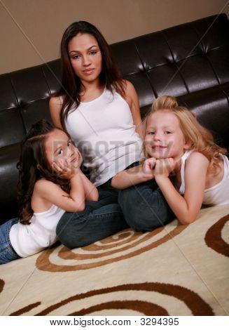 Beautiful Multiracial Family