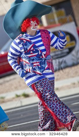 Clown cowboy in Arizona Parade