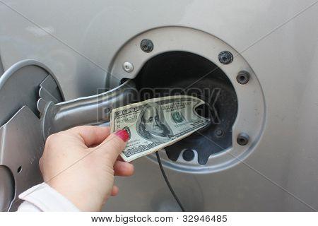 Dumping Money Into Gas Tank