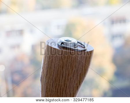 GOMEL, BELARUS - SEPTEMBER 5, 2019: Nisaku Stainless Root Scratcher 2 Hooks. The Japanese company Nisaku produces garden tools made of stainless steel.