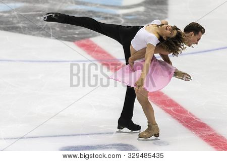 Minsk, Belarus -october 19, 2019: Couple Of Natalia Kaliszek And Maksym Spodyriev From Poland Perfor