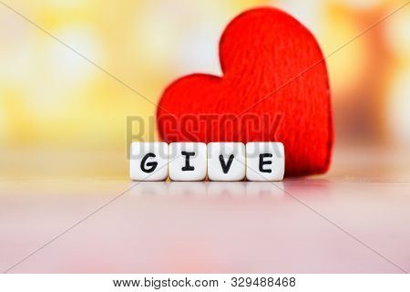 Give Love With Red Heart For Donate And Philanthropy Health Care Love Organ Donation Family Insuranc
