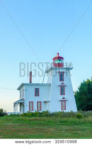 The Blockhouse Point Lighthouse, In Prince Edward Island, Canada