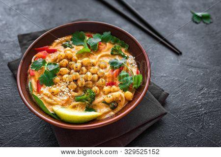 Vegetarian Laksa Soup
