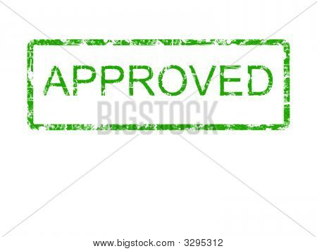 Approved Green Rubber Stamp