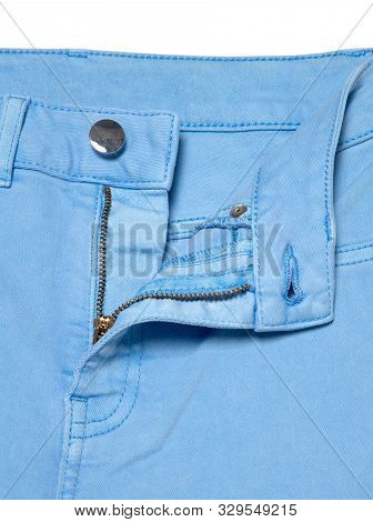 Save Download Preview Blue Jeans With Zipper. Denim Jeans Texture Or Denim Jeans Background
