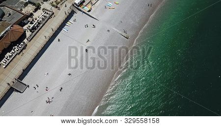 Top View At The Beach In Etretat, Normandy France