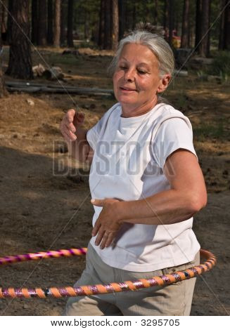 Senior Woman Hoola Hooping