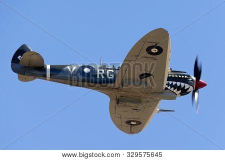 Tyabb, Australia - March 9, 2014: Supermarine Spitfire Mk Viii Vh-het In Royal Australian Air Force
