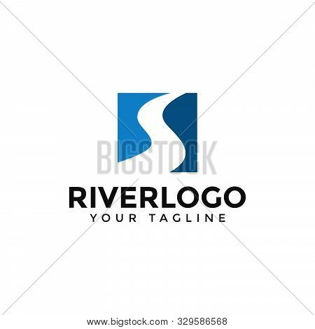 Initial Of Letter S River, Creek Logo Design Template