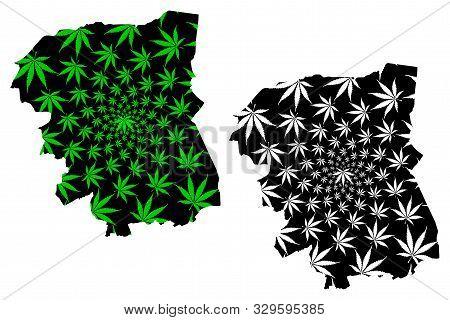 Nakhon Pathom Province (kingdom Of Thailand, Siam, Provinces Of Thailand) Map Is Designed Cannabis L