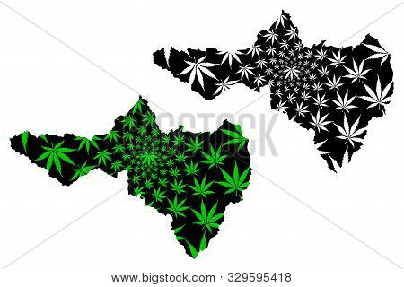 Nakhon Sawan Province (kingdom Of Thailand, Siam, Provinces Of Thailand) Map Is Designed Cannabis Le
