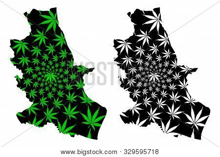 Nong Bua Lamphu Province (kingdom Of Thailand, Siam, Provinces Of Thailand) Map Is Designed Cannabis