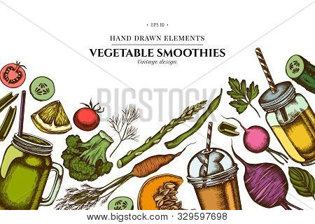 Floral Design With Colored Lemons, Broccoli, Radish, Green Beans, Cherry Tomatoes, Beet, Greenery, C