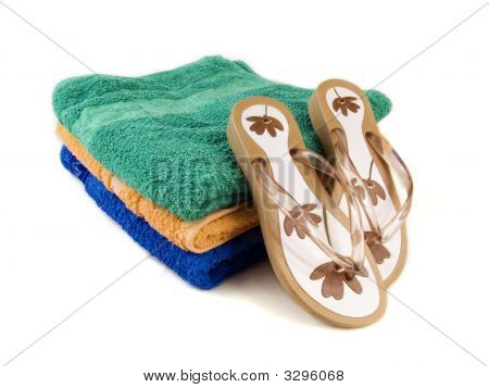 Flip-Flop And Towels 3