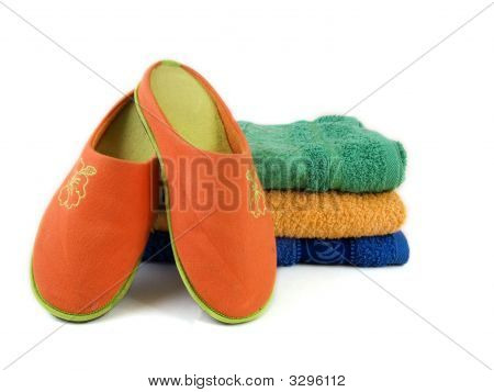 Slippers And Towels