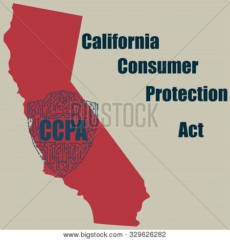 California Consumer Protection Act Or Ccpa Symbol With Lock Flat Vector Icon For Apps And Websites