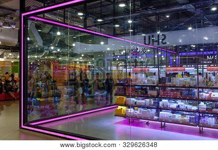 Bangkok,thailand-02 Apr 2018: Eveandboy Shop In Siam Square One , Eveandboy Is A Cosmetics Shop In T