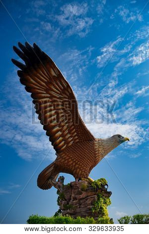 Eagle Square, Dataran Lang Is One Of Langkawi's Best Known Man-made Attractions, A Large Sculpture O
