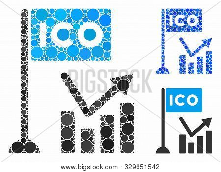 Ico Trend Chart Mosaic Of Circle Elements In Variable Sizes And Color Tinges, Based On Ico Trend Cha