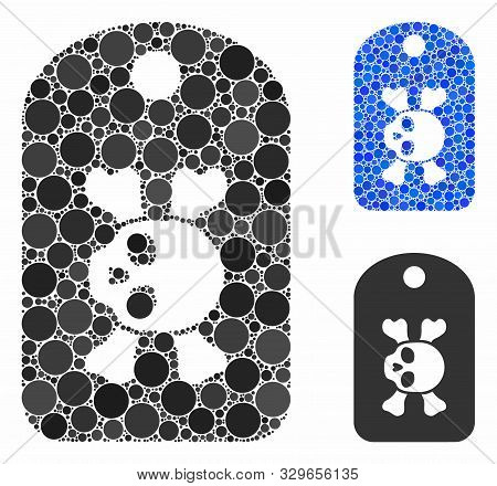 Morgue Mark Composition Of Round Dots In Different Sizes And Color Tinges, Based On Morgue Mark Icon