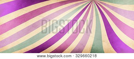 Abstract Striped Background With Wavy Lines Of Purple Pink Violet And Blue Green Colors On An Old Wh