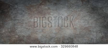 Black Background With Grunge Texture And Rough Cracked And Stained Surface, Old Elegant Gray Backgro