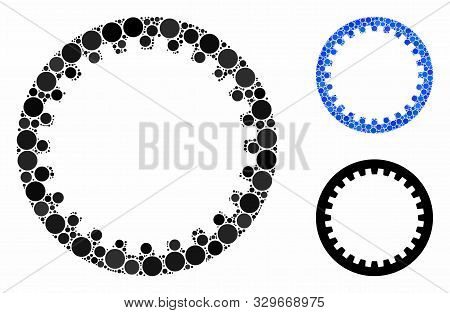 Annular Gear Composition Of Small Circles In Various Sizes And Color Tints, Based On Annular Gear Ic