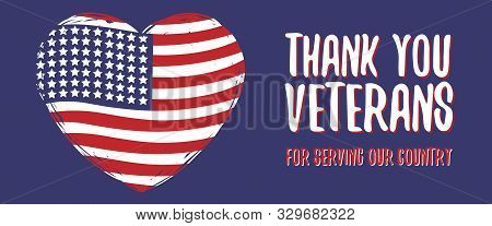 Memorial Day Greeting Card, Poster, Flyer, Banner. Veterans Day. Usa Flag With Stars, Usa Flag Color