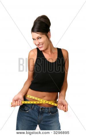 Elated Woman Who Lost Weight