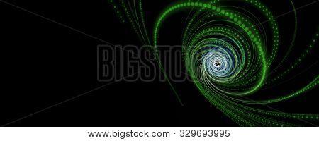Futuristic Eco Particle Stripe Panorama Background Design Illustration
