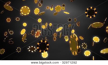 Casino Chips Gold Black