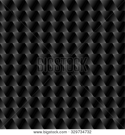 Black Background With Triangles, Vector Geometric Pattern