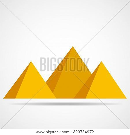 Egypt Pyramids Icon Isolated On A White Backgrounds