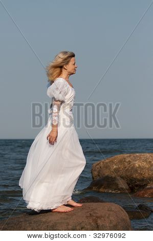 Woman In White Dress