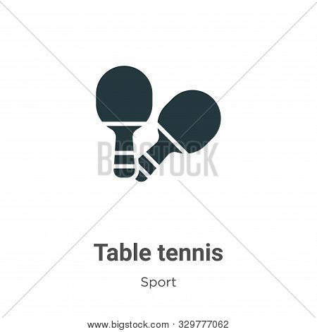 Table Tennis Icon. Table Tennis Icon Vector Flat Illustration For Graphic And Web Design Isolated On