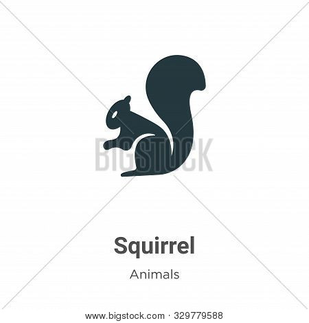 Squirrel icon isolated on white background from animals collection. Squirrel icon trendy and modern