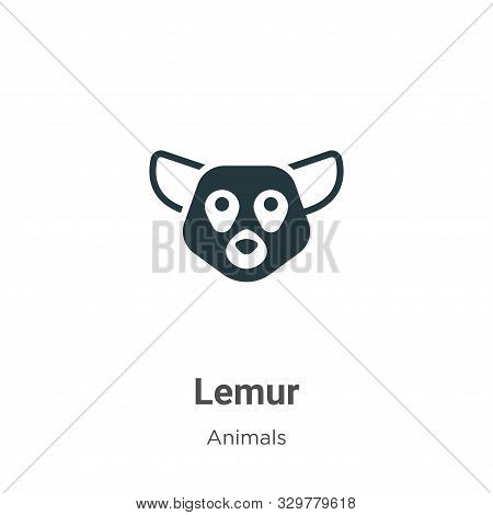 Lemur icon isolated on white background from animals collection. Lemur icon trendy and modern Lemur